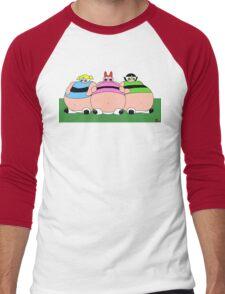 POWERFAT GIRLS Men's Baseball ¾ T-Shirt