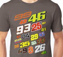 MotoGP Rider Numbers - 2016 Unisex T-Shirt