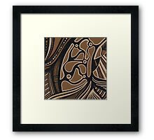 abstract ink Framed Print