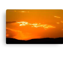 Tropical Orange Sunset Canvas Print
