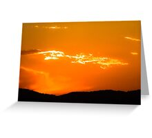 Tropical Orange Sunset Greeting Card