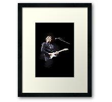 Digital painting of legend Eric Clapton Framed Print