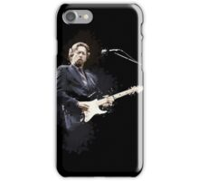 Digital painting of legend Eric Clapton iPhone Case/Skin