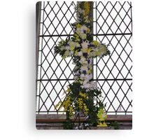 Floral Easter Cross Canvas Print