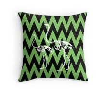 Ostrich and Moa Skeleton Throw Pillow