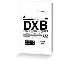 DXB Dubai International Airport Call Letters Greeting Card