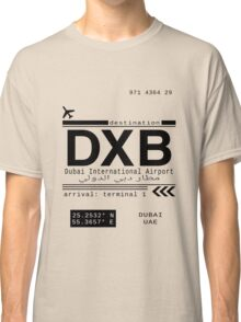 DXB Dubai International Airport Call Letters Classic T-Shirt