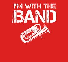 I'm With The Band - Tuba (White Lettering) Womens Fitted T-Shirt