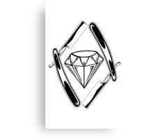 Diamond cut Canvas Print