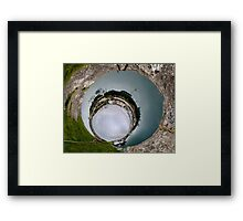 Hurry Head Harbour, Carnlough, County Antrim - Sky In Framed Print