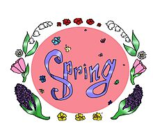Spring with flower Photographic Print
