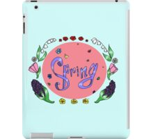 Spring with flower iPad Case/Skin