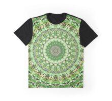 Delicate Green Garden Growth Kaleidoscope  Graphic T-Shirt
