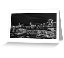 A Wonderful  Evening in Budapest Greeting Card