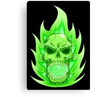 Soul Skull Green Canvas Print