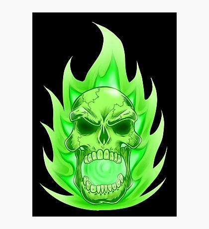 Soul Skull Green Photographic Print