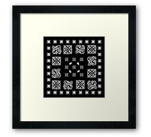 Black Bandanna  Framed Print