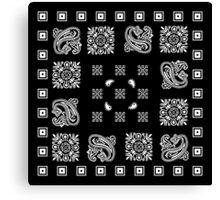 Black Bandanna  Canvas Print