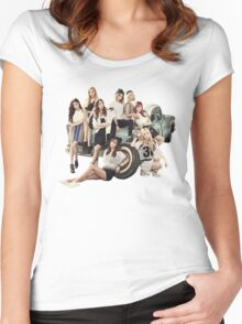 snsd bg Women's Fitted Scoop T-Shirt