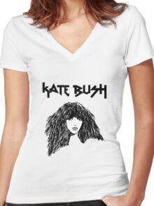 Kate Bush Women's Fitted V-Neck T-Shirt