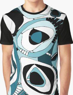 Retro Blue Graphic T-Shirt