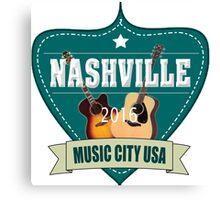 Vintage Nashville Music City Canvas Print
