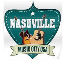 Vintage Nashville Music City Poster