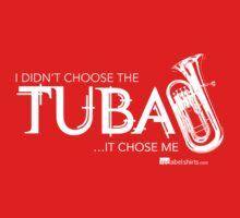 I Didn't Choose The Tuba (White Lettering) Kids Tee