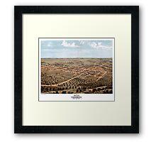 California - Missouri - United States - 1869 Framed Print