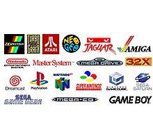 arcade logos videogames consolas Photographic Print