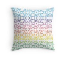 Triangle Dog - Rainbow - by Isabella Throw Pillow