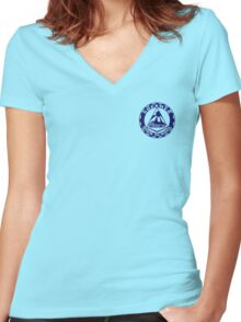Shermer High School Patch (Close to Screen Accurate) Weird Science Women's Fitted V-Neck T-Shirt