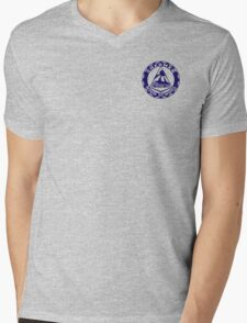 Shermer High School Patch (Close to Screen Accurate) Weird Science Mens V-Neck T-Shirt