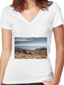 Donegal Scene ~ 1 Women's Fitted V-Neck T-Shirt