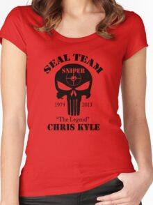 seal team sniper  Women's Fitted Scoop T-Shirt
