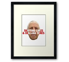 Pete Price belling plod  Framed Print