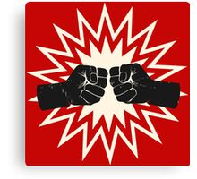 Fist bump Canvas Print