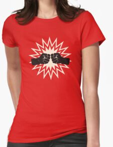Fist bump Womens Fitted T-Shirt