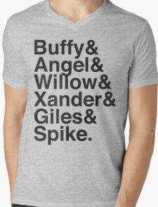 The Scooby Gang Vintage Black Mens V-Neck T-Shirt