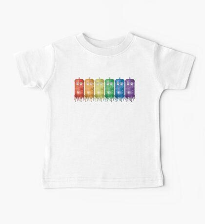 Rainbow Galaxy Tardis Baby Tee