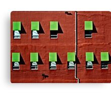 Wall in Red and Green Canvas Print