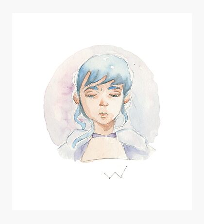 Blue haired Girl Photographic Print