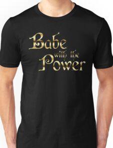 Labyrinth Babe With The Power (black bg) Unisex T-Shirt