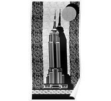 Empire State Building Deco Swing style Poster