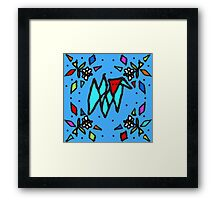 Triangle Dog - Blue Primary Colors - by Isabella Framed Print