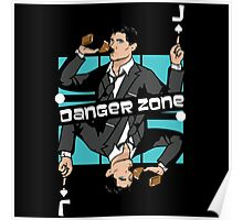 Archer Danger Zone Jack Card Poster