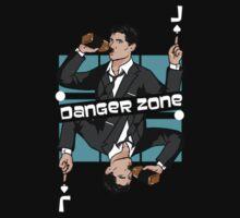 Archer Danger Zone Jack Card Kids Tee