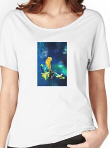 Yellow Blossom on Blue Women's Relaxed Fit T-Shirt