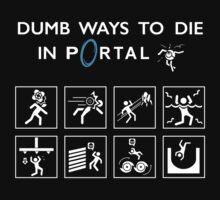 Dumb ways to die in Portal Kids Tee