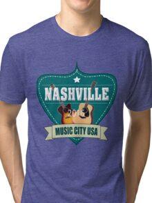 Vintage Nashville Music City Tri-blend T-Shirt